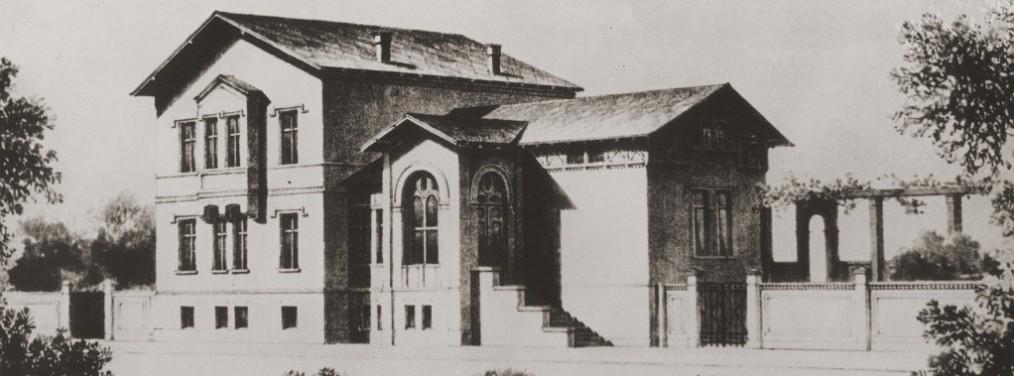 Bahnhof Briesen Ansicht um 1870 Text